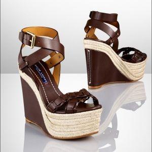Ralph Lauren Filipina leather wedges espadrilles